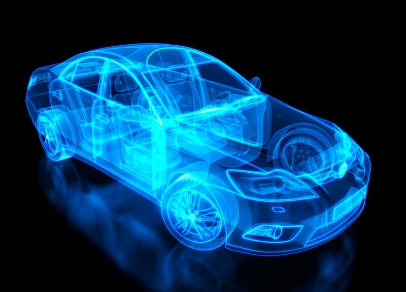 A transparent car graphic